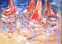 Dinghies on Beach