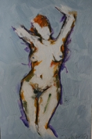 Nude with Arms Raised