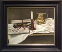 Still Life with Brass Jug & Candle