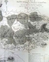 OFFALY. A map of the eleven divisio