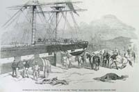 Embarkation of the 11th hussars at