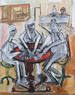 Three Men at Cards - Mike Absalom