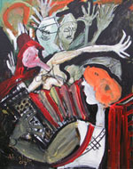 Woman with Accordion - Mike Absalom
