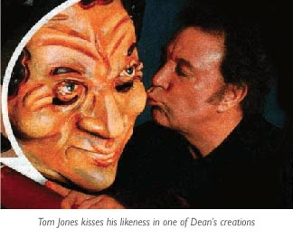 Tom Jones kisses Tom Jones by Dean Kelly