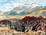 Spring in the Valley and Silver Birch, Inagh Valley, March - Rosemary Carr