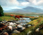 Crossing the Stream near Cleggan - Susan Webb