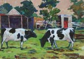 Cows Grazing - Hugh McCormick