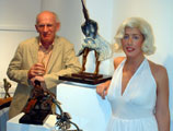 Artist John Coll with Julie 'Marilyn' Foy