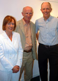 Dr. Barbara Loftus, husband John Coll & Dr. Ó'Muircheartaigh