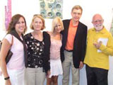 Cassie, Madeline, Candy, and Tom Henning (Nebraska,_USA) with the artist John ffrench