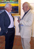 Kenneth Webb with fellow artist Jaap Veld