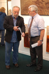 Brian Keenan and Gallery Director Tom Kenny