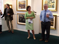 Tom Kenny introduces Anne McCabe to officially open the exhibition