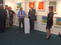Tom Kenny introduces Tom Kiernan to officially open the exhibition