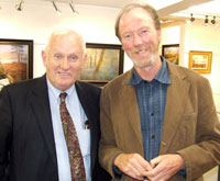 US art collector Martin Harrity of Massachusetts and Artist Paul Guilfoyle