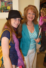 Aisling Drennan and her mother Artist Doreen Drennan