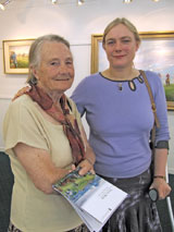 Artists Joan Webb and Susan Webb
