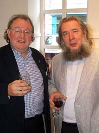 Galway City Arts Officer James Harrold and sculptor Colm Brennan