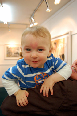 Oliver Kelly son of the artist aged 9 months