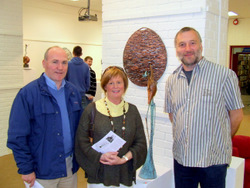 Terry and Mary Smith with the artist Liam Butler