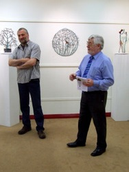Tom Kenny officially opens the exhibition