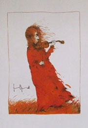 Fiddler in the Field by Gertrude Degenhardt
