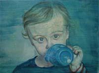 Infant Girl Drinking