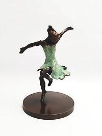 Dancer with a Green Dress