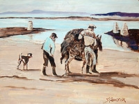 Bringing Home the Seaweed, Roundstone  (Unframed)