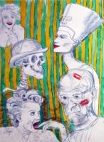 Nefertiti, Skully and Myself