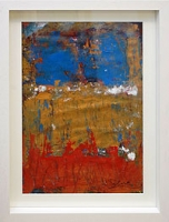 Red, Gold, Blue Abstract
