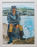 Fisherman Seated on Lobster Pot