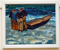 Four Men with Currach, Homage to Bill Doyle