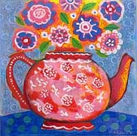 Pink Vintage Teapot