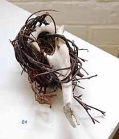 Small Nest on Weathered Sheep Bone