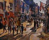 Twilight Traffic, Cross Street, Galway
