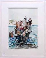 Man Pulling Boat