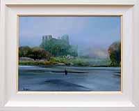 Misty morning training at Menlough Castle