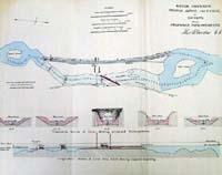 RUSKEY, bridge, shoal and canal at;