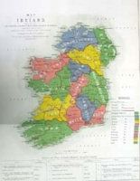 IRELAND, map of, shewing the Princi