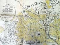 KILDARE, Map of part of the Bog of