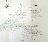 RIVER SHANNON, chart of the from Li