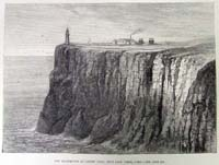 New lighthouse at Gallery Head, Nea