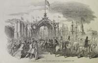 The procession passing through the