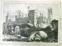 View of Lismore castle, Ireland, as