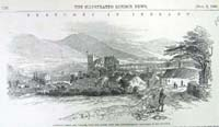 Ardfinan castle and village, from t