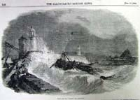 "Wreck of the ""Diana"", off Penzance"