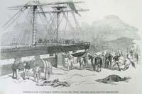 Embarkation of the 11th hussars at