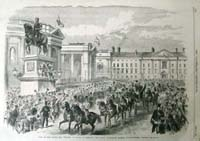 The Royal Procession Passing Colleg