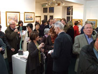 Opening Night of the Back Lane Painters Exhibition